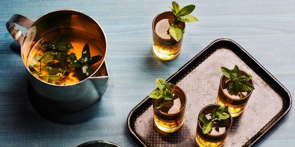 Moroccan Mint Tea + Hibiscus Flower Granita
